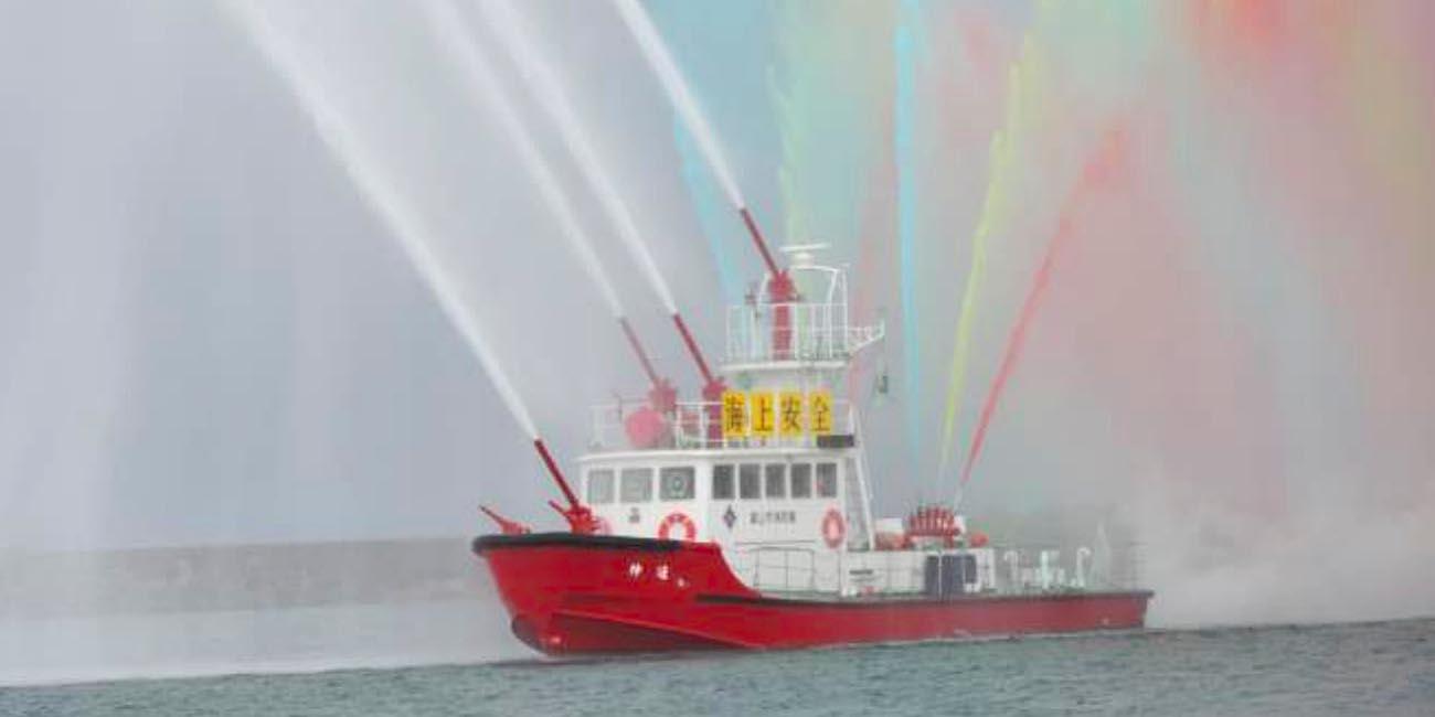 富山市消防海上出初式、1/12に岩瀬漁港で開催 消防艇・巡視船が放水 ...